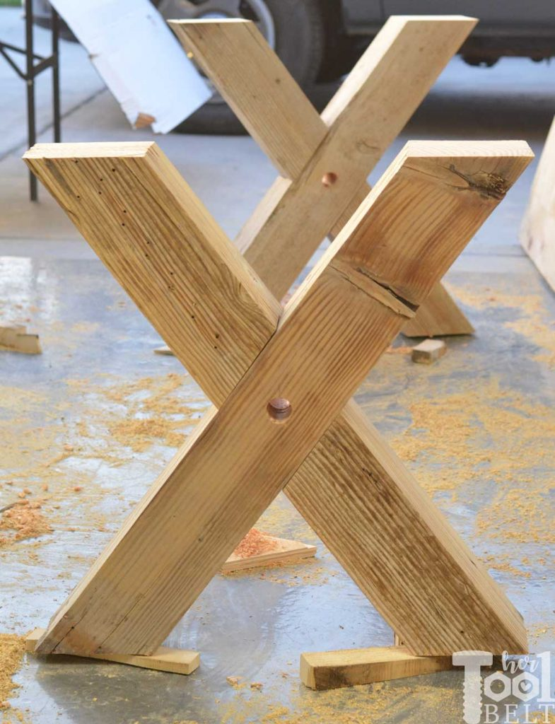 Super Chunky X Table free plans - X's