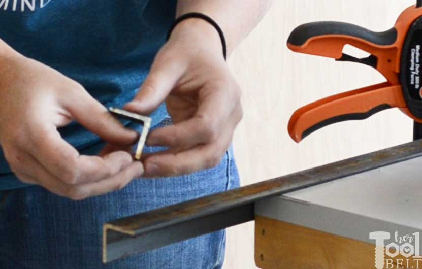 """Cutting 1/8"""" steel angle iron with Diablo's Steel Demon metal cutting blades, cut off is barely warm."""