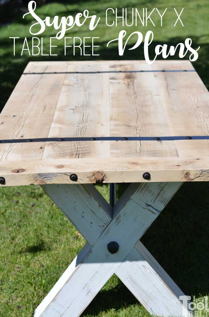Super Chunky X Table free plans