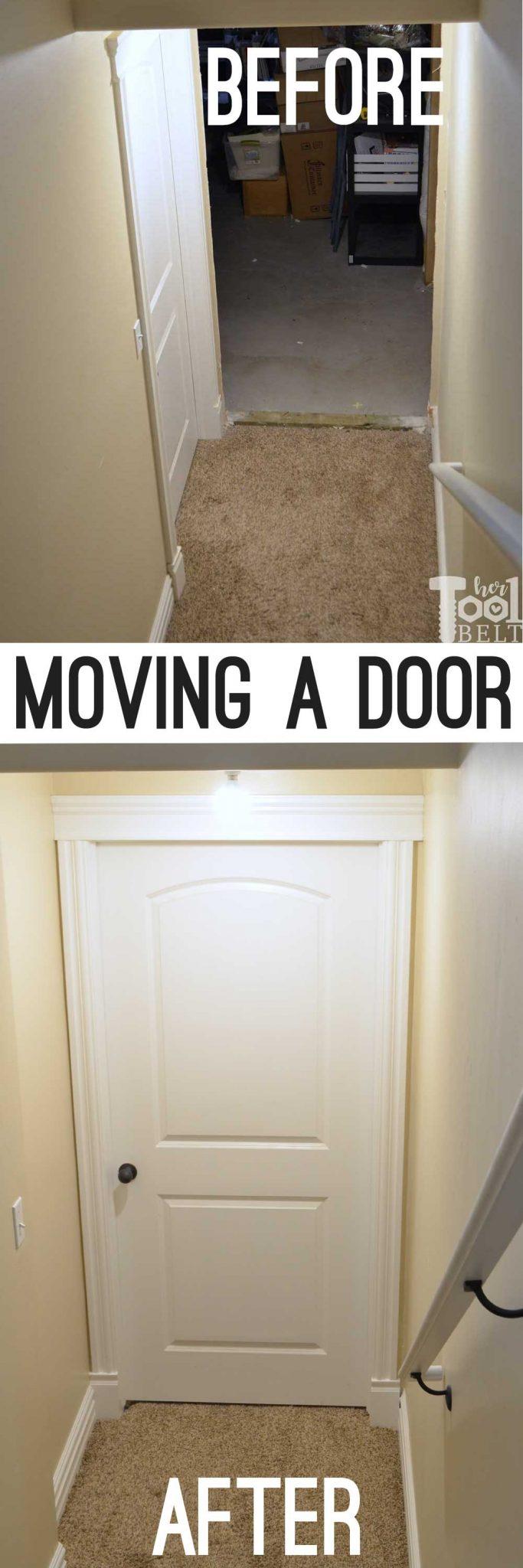 Moving A Door In The Basement Her Tool Belt