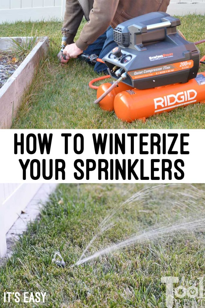 3 Easy steps to winterizing your sprinklers for the winter.