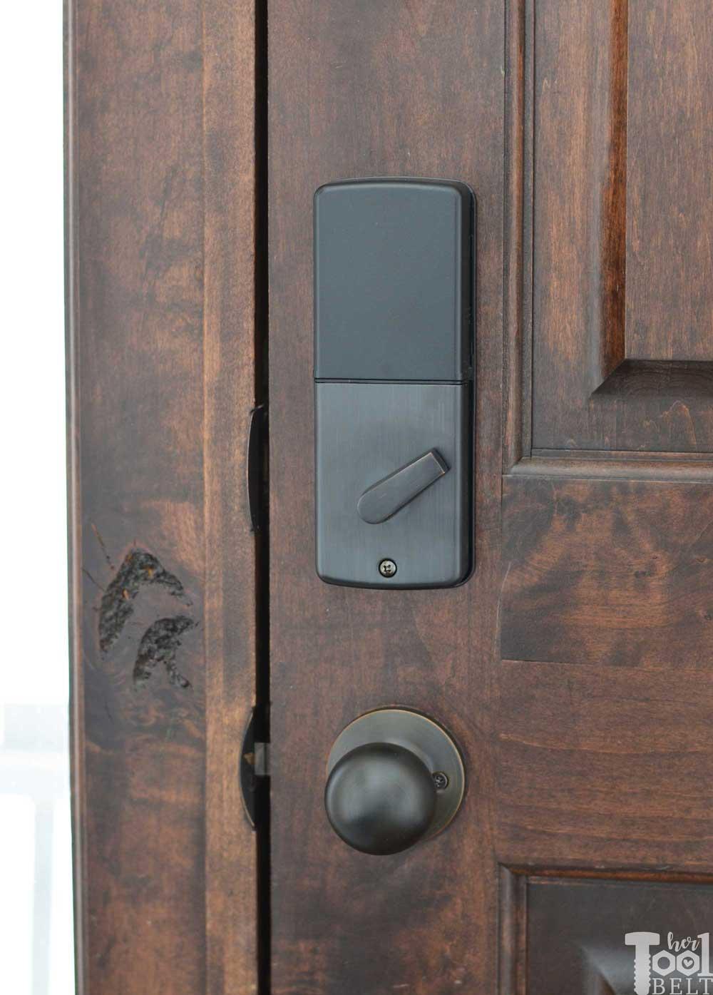 Front Door Refresh And Smart Lock Install Her Tool Belt