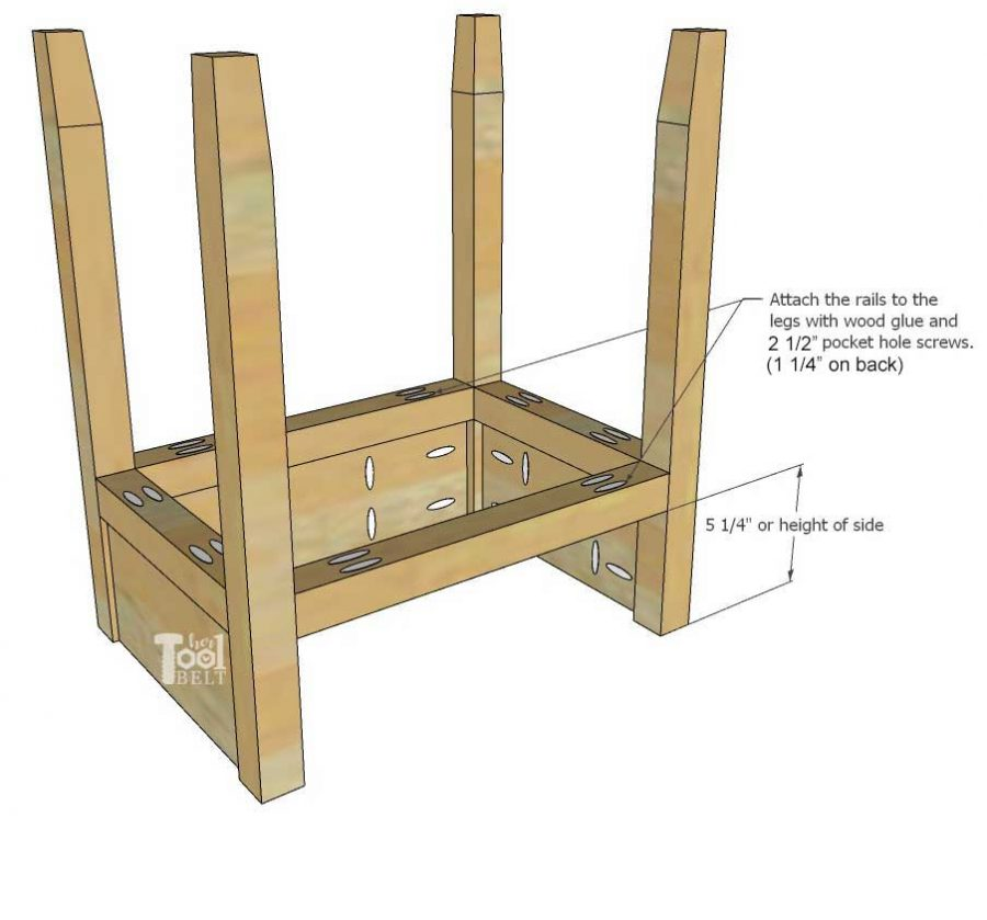 The Ashley nightstand is a simple nightstand with an enclosed shelf. Build this nightstand for about $15 in lumber...or it's perfect to use up scrap wood. Free plans on hertoolbelt.com