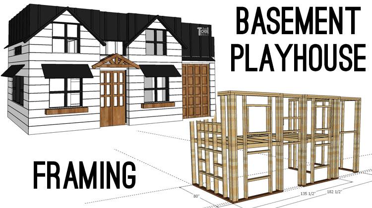 Basement Playhouse Build – Framing