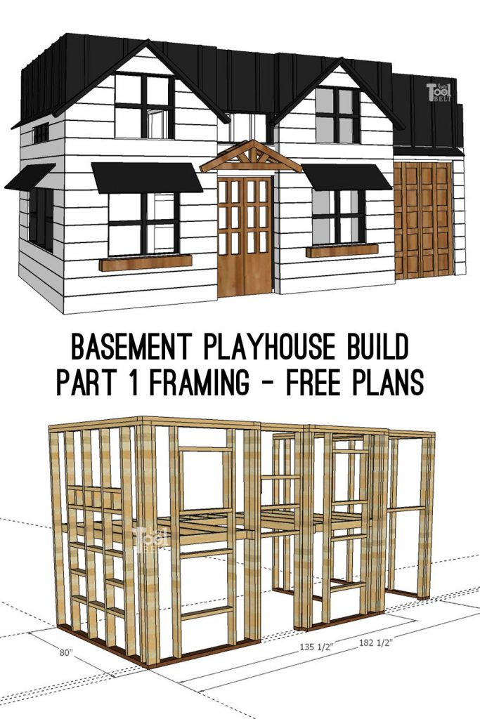 Building a fun basement playhouse for hours of fun for the kids (and to contain all the toys)! Basement playhouse build - part 1 framing the playhouse.