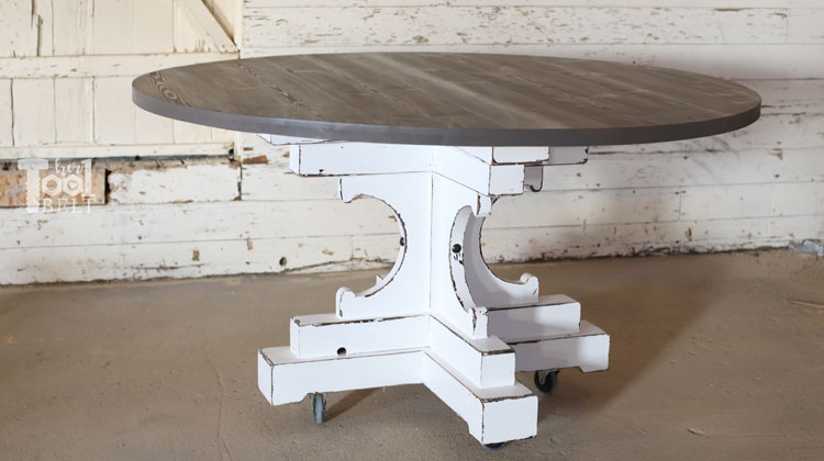 60inch Round Table.60 Inch Round Table French Farmhouse Style Her Tool Belt