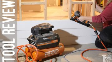 Ridgid Angled Finish Nailer and Compressor Tool Review