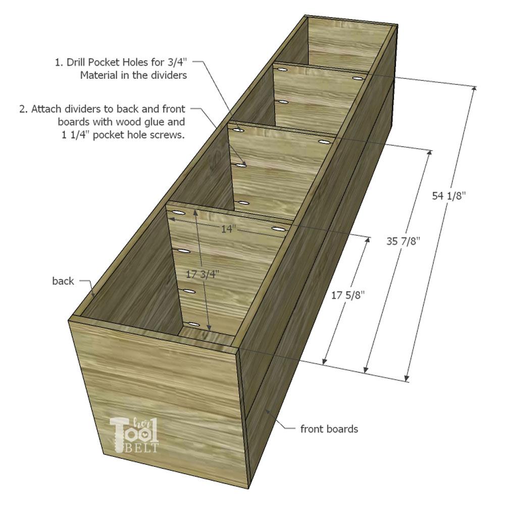 Backpack Storage Bench Plans - Her Tool Belt