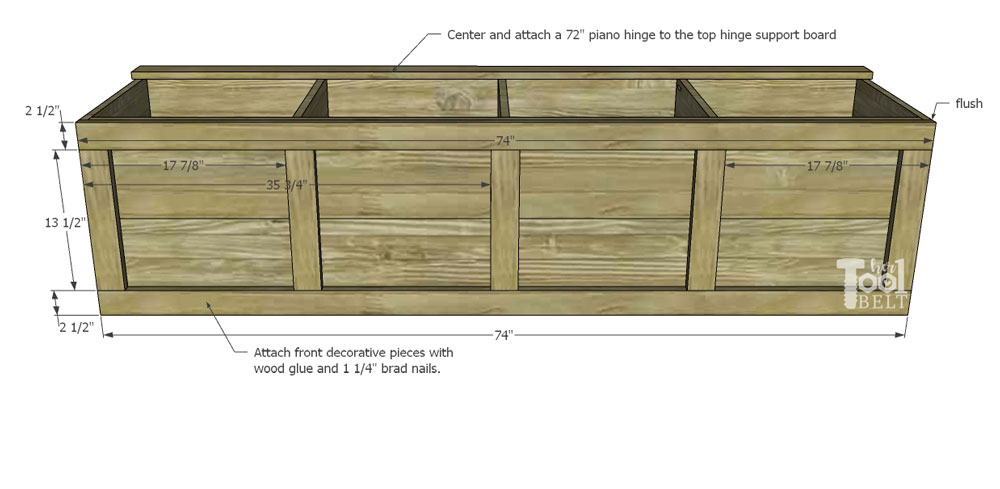 Peachy Backpack Storage Bench Plans Her Tool Belt Machost Co Dining Chair Design Ideas Machostcouk