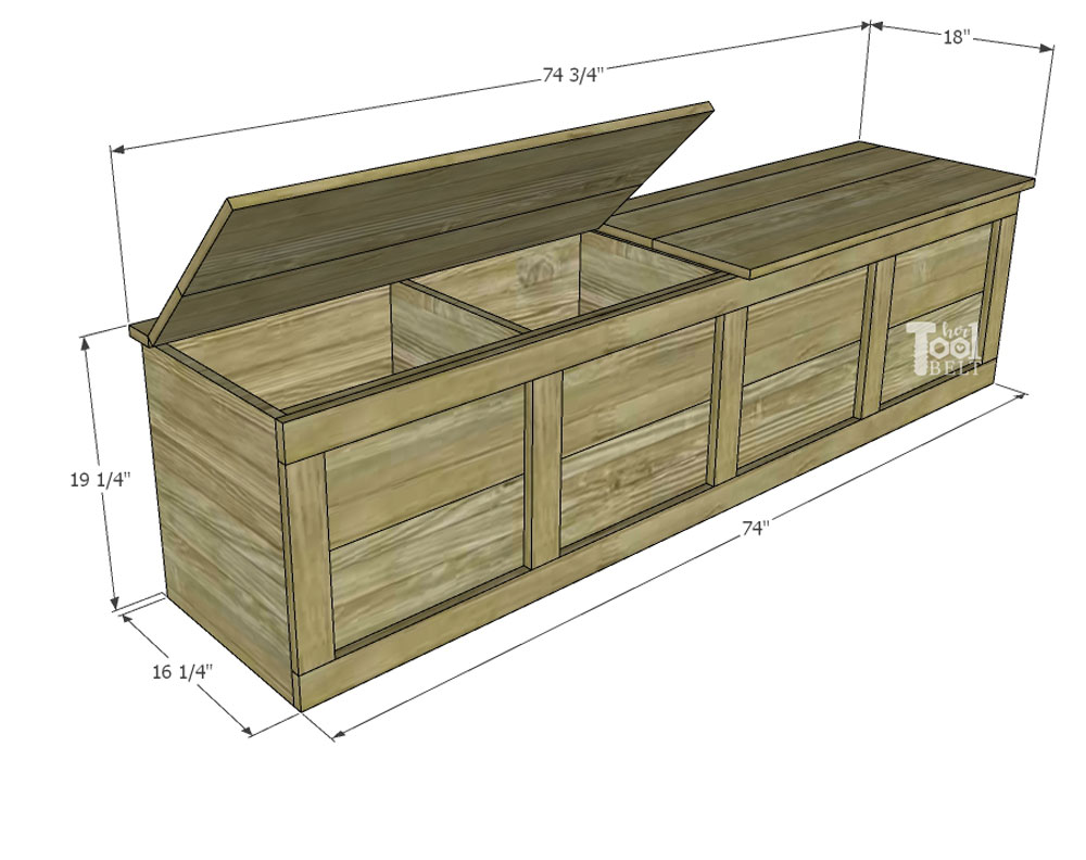 Excellent Backpack Storage Bench Plans Her Tool Belt Home Interior And Landscaping Ologienasavecom