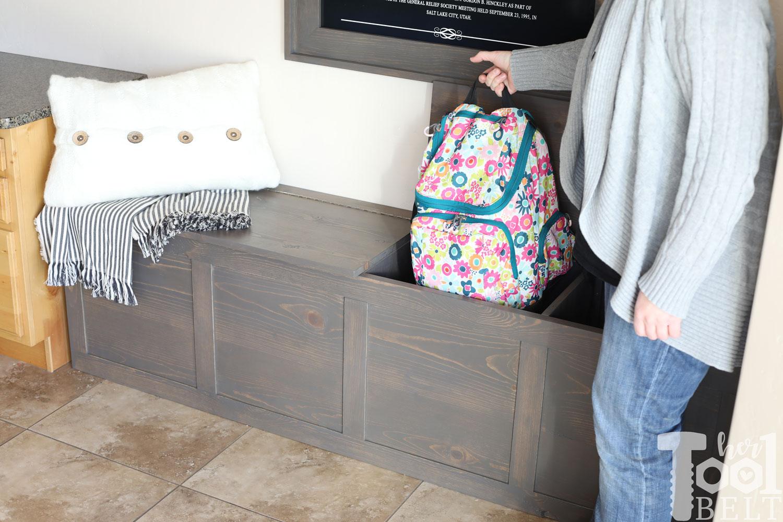 Pleasing Backpack Storage Bench Plans Her Tool Belt Inzonedesignstudio Interior Chair Design Inzonedesignstudiocom