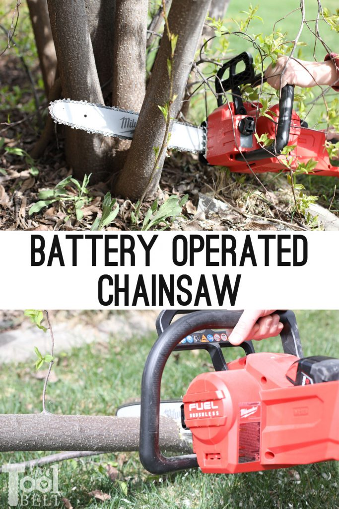 "Milwaukee's 16"" battery operated chainsaw review. All the power of a 40 cc chainsaw without the engine maintenance!!!"