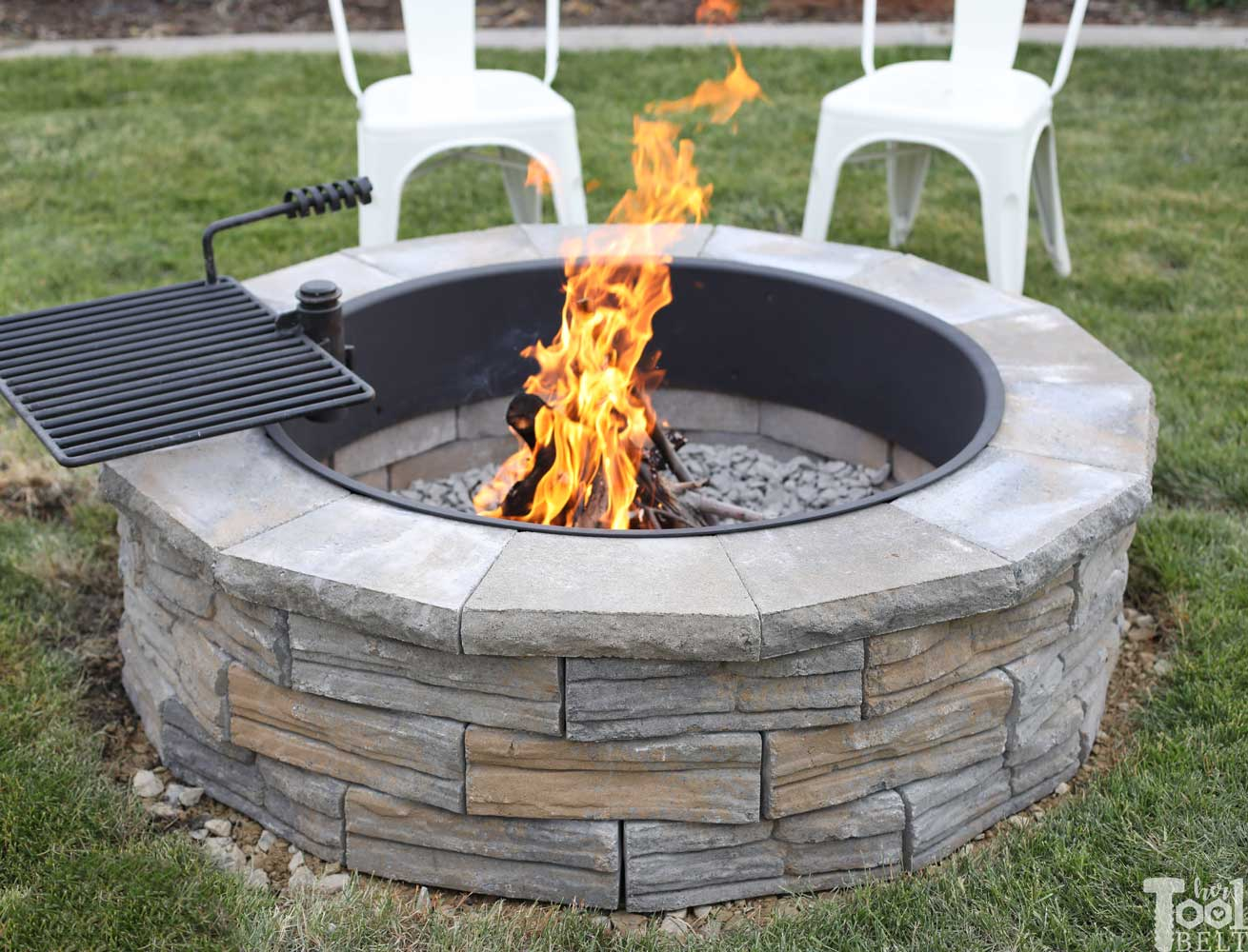 Diy Backyard Fire Pit Her Tool Belt