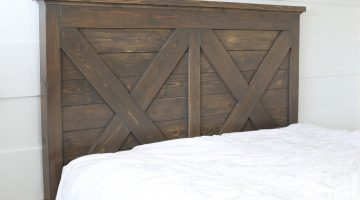 King X Barn Door Farmhouse Bed Plans