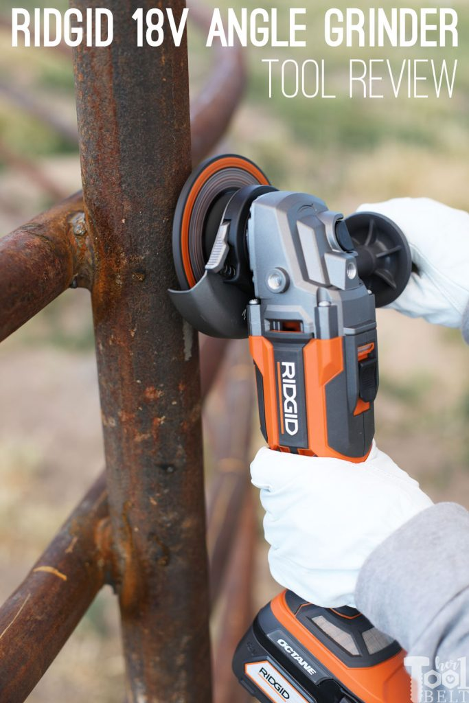 Tool Review of the 18 volt octane battery powered Ridgid angle grinder.