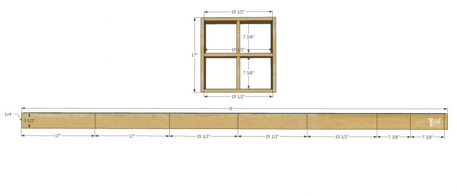 window shadow box shelf cut diagram