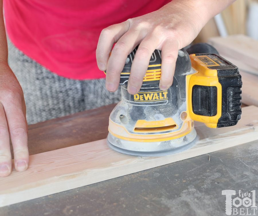 Sanding boards for window shadow box shelf