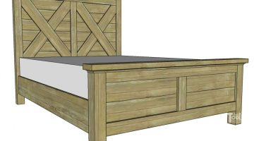 Queen X Barn Door Farmhouse Bed Plan