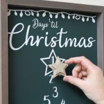 Magnetic Christmas Countdown Sign