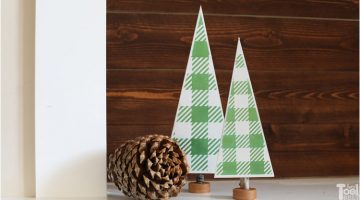 Table Top Gingham Christmas Trees