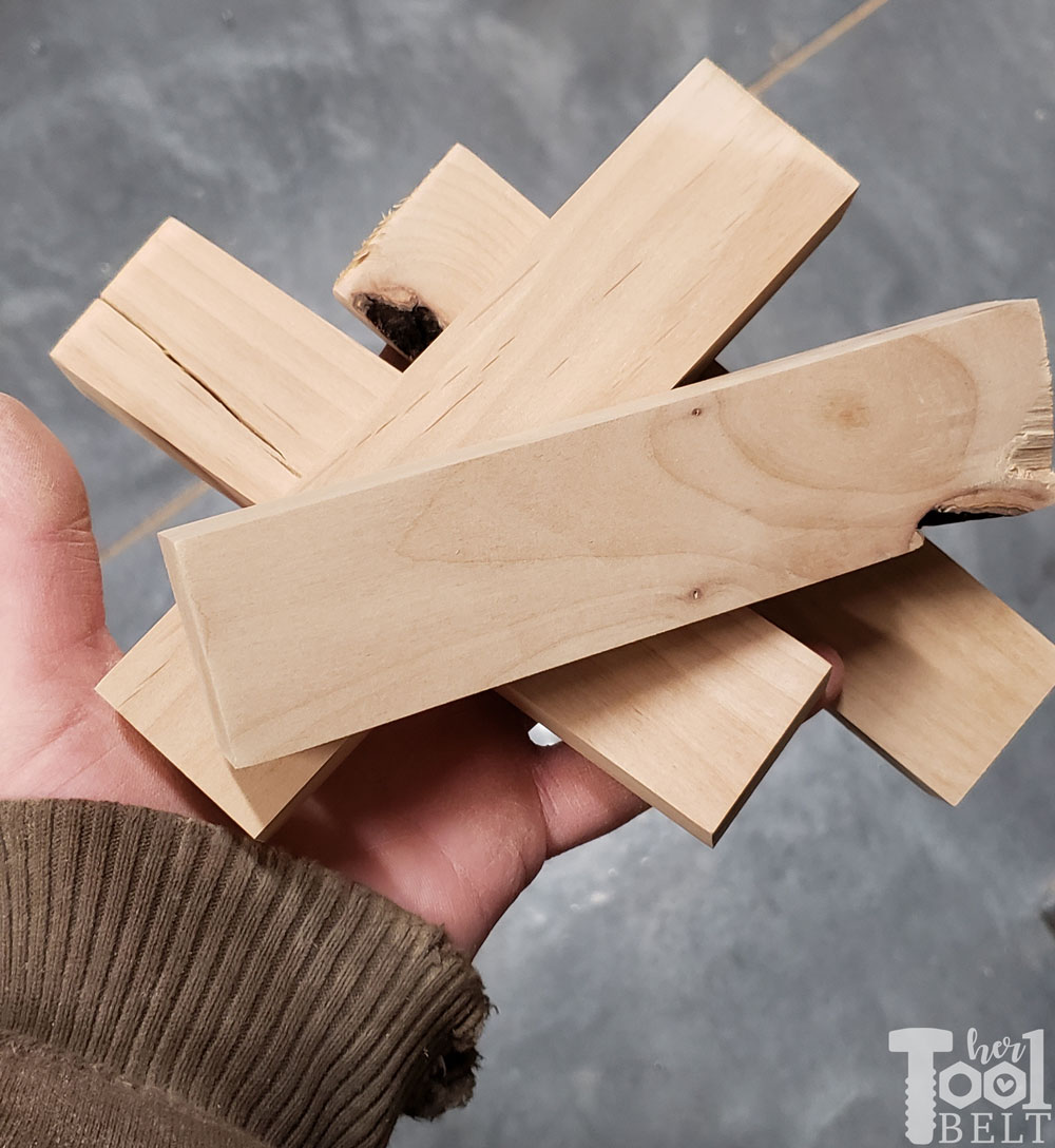 Scrap Wood Christmas Tree Ornaments Her Tool Belt