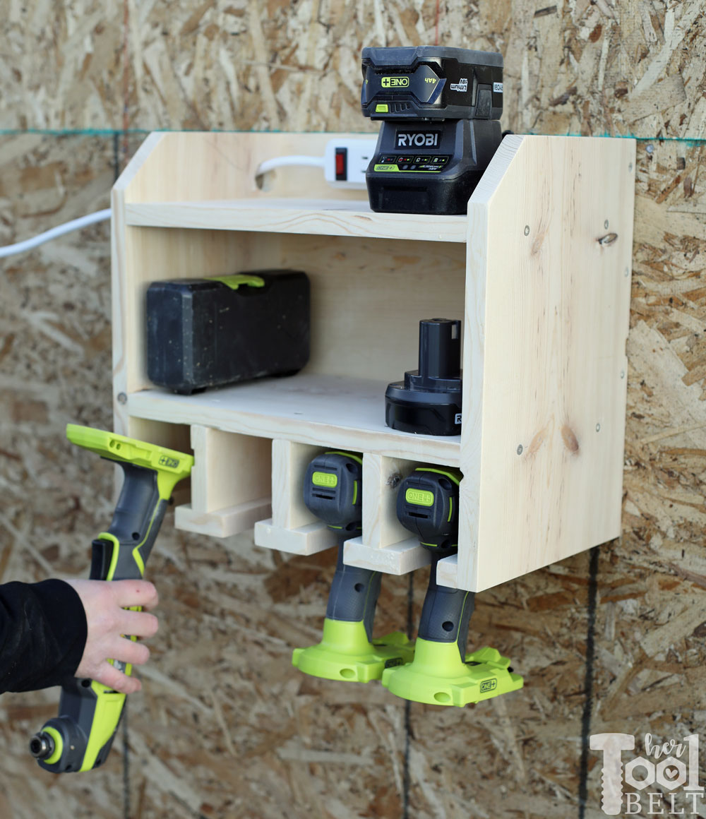 Custom Drill Storage And Charge Station Easy Her Tool Belt