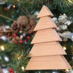 Scrap Wood Christmas Tree Ornaments