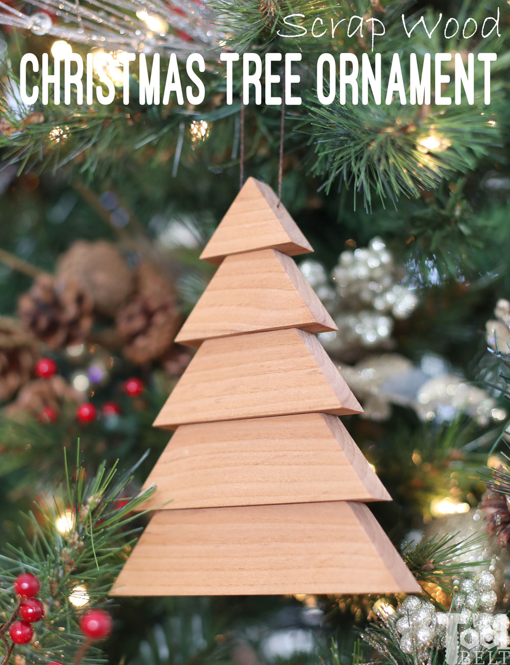 Scrap Wood Christmas Tree Ornaments Her Tool Belt