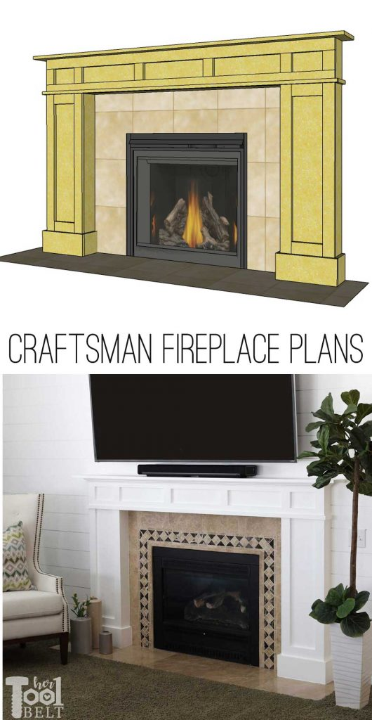 How to build a white modern craftsman fireplace mantel from a $32 sheet of MDF.