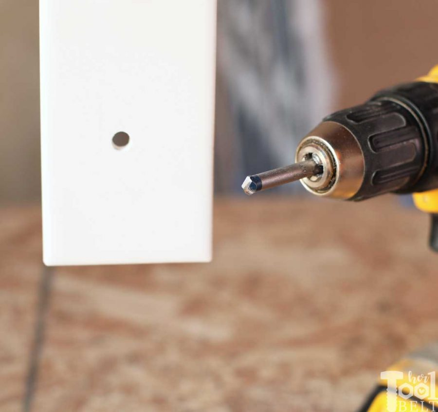 Drill holes in tile with Bosch carbide tipped bits.