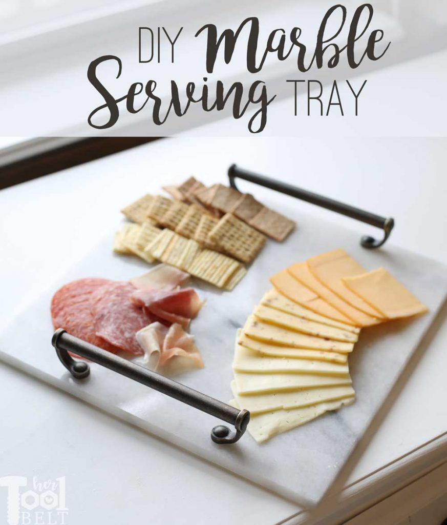 Turn a $2 marble tile into a Marble Serving Tray.