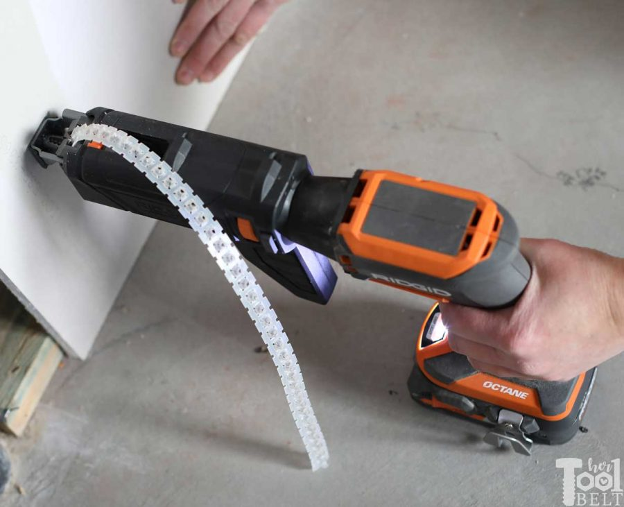 Get perfect drywall screw depth everytime! Tool review of Ridgid cordless drywall screwdriver with optional collating screw attachment.