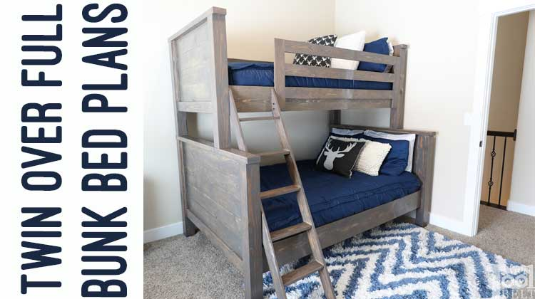 Farmhouse Style Twin over Full Bunk Bed Plans