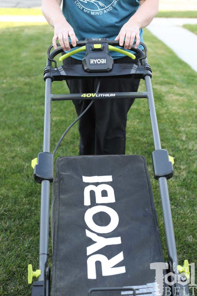 How to start the Ryobi battery operated lawn mower. Is a battery powered lawn mower as tough as gas powered? Check out this Ryobi 40 volt lawn mower review.