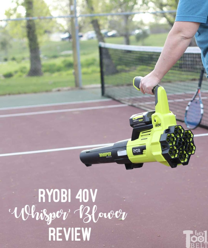 Tool Review of Ryobi's 40V battery powered jet fan blower.