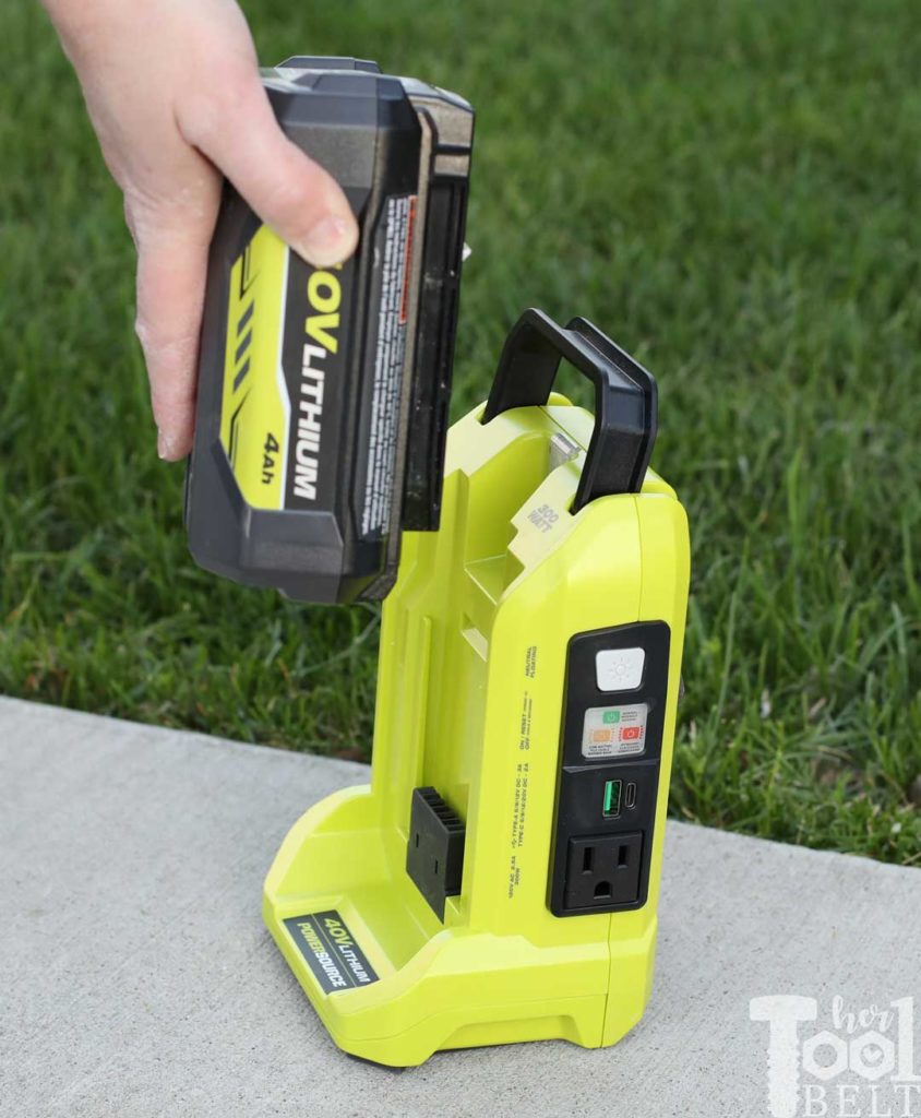 Tool Review of Ryobi's 40V battery power inverter.