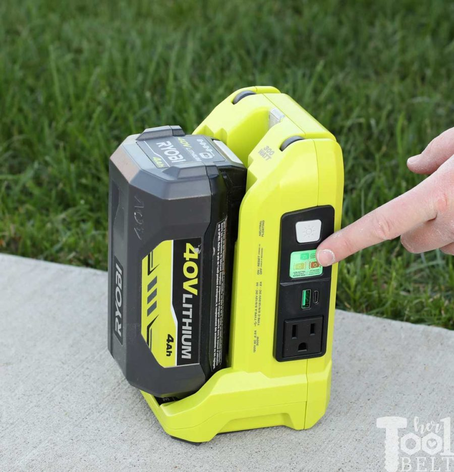 Activate Inverter. Tool Review of Ryobi's 40V battery power inverter.