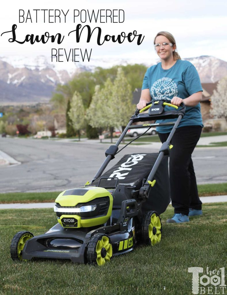 Is a battery powered lawn mower as tough as gas powered? Check out this Ryobi 40 volt lawn mower review.