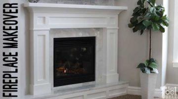 Modern Farmhouse Mantel Makeover – Corner Fireplace