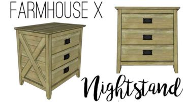 Farmhouse X Nightstand Plans