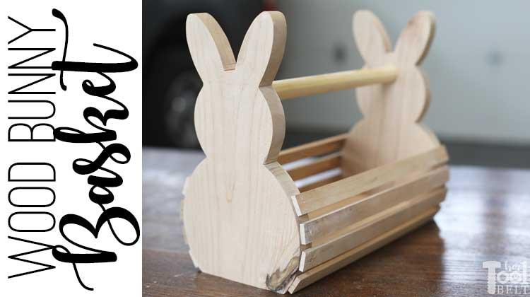 Wood Bunny Easter Basket