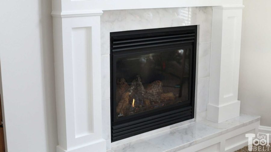 How to open and clean gas fireplace glass. Get rid of the gunk on the inside of the fireplace glass.