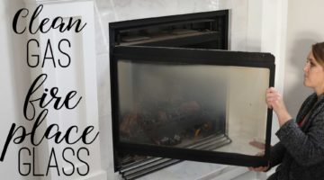 How to Open and Clean Gas Fireplace Glass
