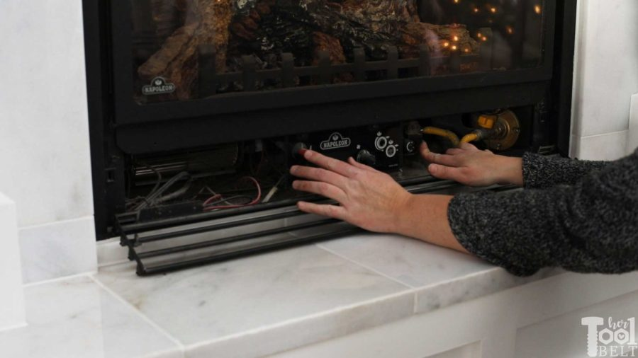 How to ignite the pilot light on a gas fireplace.