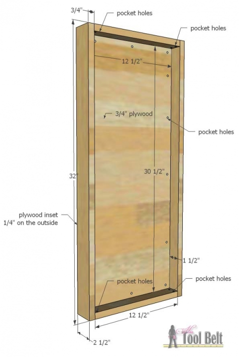 Jewelry Cabinet Her Tool Belt, Jewelry Armoire Design Plans